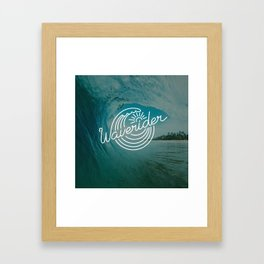 Waverider Rush Framed Art Print