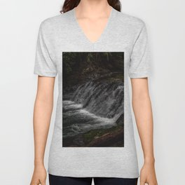Hidden Turtle Waterfall Unisex V-Neck