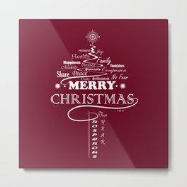 The Wishing Christmas Tree Metal Print