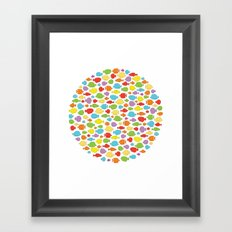 Something fishy going on Framed Art Print