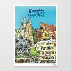 Enjoy Gaudí! Canvas Print