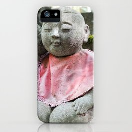 Cute jizo in a Japanese temple iPhone Case