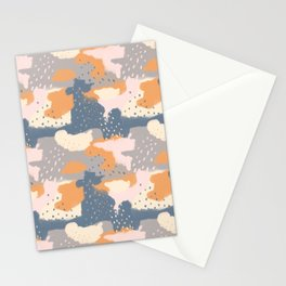 Cloudy With a Chance of Rain, Color Block Clouds Stationery Cards