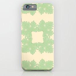Grapevine Leaf Squares Pattern iPhone Case