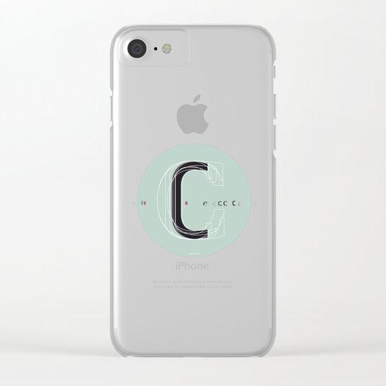 C c Clear iPhone Case