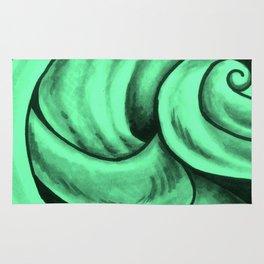 Swirl Circle (green) Rug