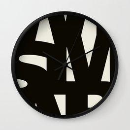 Wismar Typografie Wall Clock