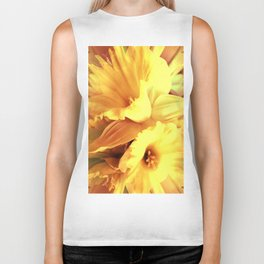 Daffodils In Spring Biker Tank