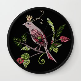 Royal crown bird Wall Clock