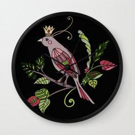Royal crown bird Wall Clock