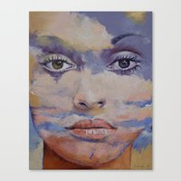 mona lisa Canvas Prints featuring Mona Lisa by Michael Creese