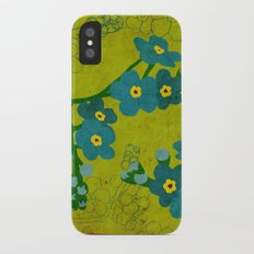 Flowers: Forget me not iPhone X Slim Case
