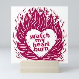 Fire Heart Mini Art Print