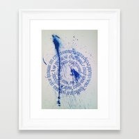 calligraphy Framed Art Prints featuring Calligraphy  by stelaart