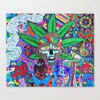 hippie Canvas Prints featuring Hippie by Allie_gator