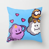lumpy space princess Throw Pillows featuring Lumpy Space Princess: You know you want these lumps! by Macaluso