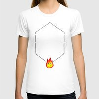 calcifer T-shirts featuring May All Your Bacon Burn by BiteMeFox