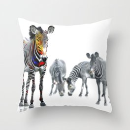 Stand Out Zebra Throw Pillow
