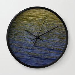 Colorful water at Lock 23 Wall Clock