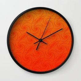 Orage, red & yellow optic art pattern Wall Clock