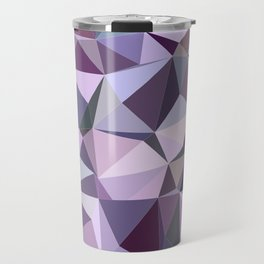 Happy purple triangles Travel Mug