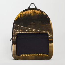 Budapest Chain Bridge And Castle Backpack