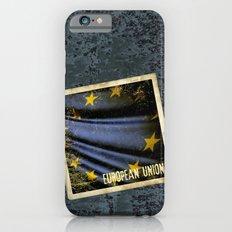 Grunge sticker of European Union flag iPhone 6s Slim Case