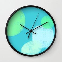 Let's Appreciate Our Shapes no.14 - blue minimal art Wall Clock