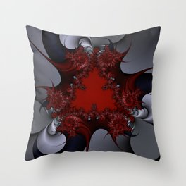 red blue and silver spurs Throw Pillow
