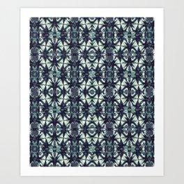 Intersecting Geometric Pattern Design Art Print