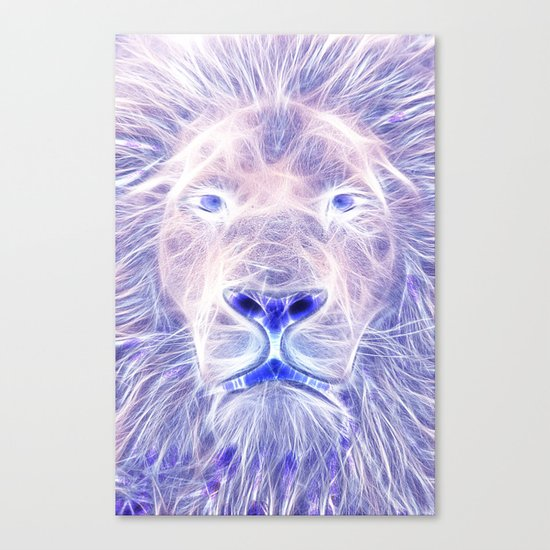 Electric Lion Canvas Print