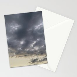 Grey clouds Stationery Cards