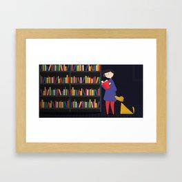 Chasing Sparks - Books Framed Art Print