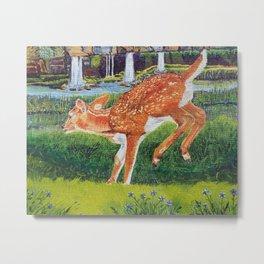 Deer in our Holler Metal Print