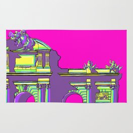 Pop art Puerta de Alcala Madrid Spain Rug