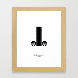 Porn Film Genre Icon Framed Art Print