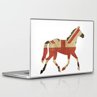 british Laptop & iPad Skins featuring British Horse by sreysa'art