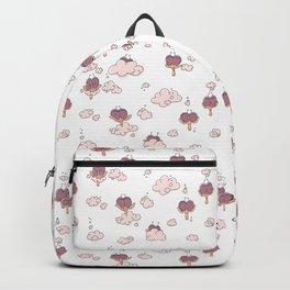 chicken crazy pink Backpack