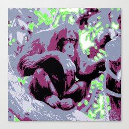 Pop Art Orang Utan Canvas Print