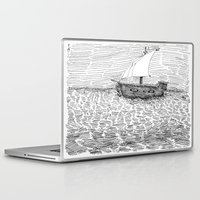 ship Laptop & iPad Skins featuring Ship by Mr.Willow