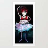 ballerina Art Prints featuring Ballerina by clemm
