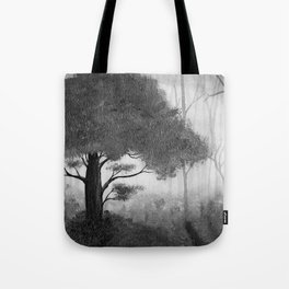 The Dark Forest (B&W) Tote Bag