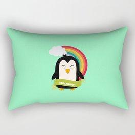 Penguin Rainbow from Stockholm T-Shirt Rectangular Pillow
