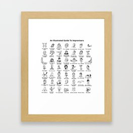 An Illustrated Guide To Improvisers Framed Art Print