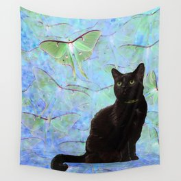 Luna Cat Wall Tapestry