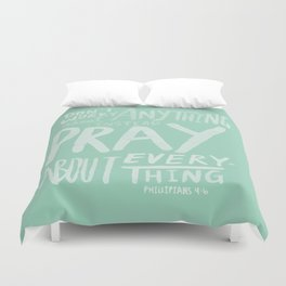 Dont Worry, Pray x Mint Duvet Cover