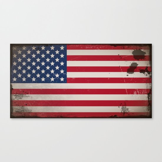 Vintage USA Flag Canvas Print