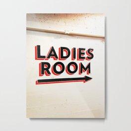 291. Ladies Room, New York Metal Print