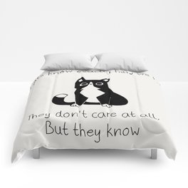 Cats know exactly how we feel... Comforters
