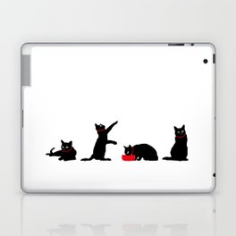 Cats Black on White Laptop & iPad Skin